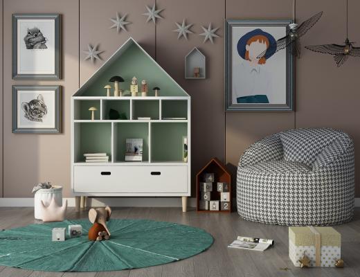 现代儿童活动区 懒人沙发