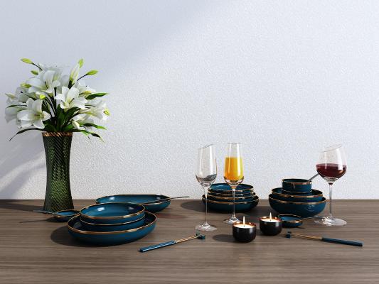 北欧餐具组合 餐具 装饰品