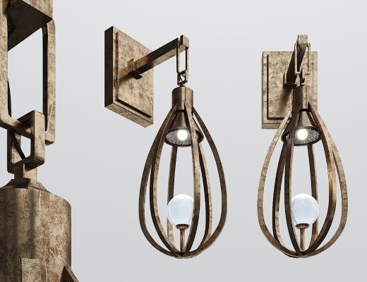 工业风铁艺壁灯