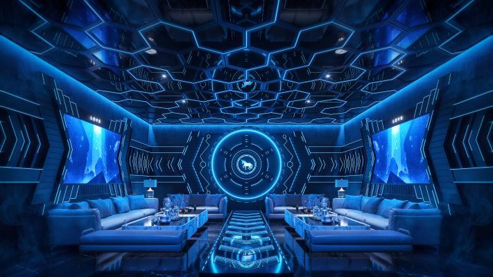 现代科技风KTV包房