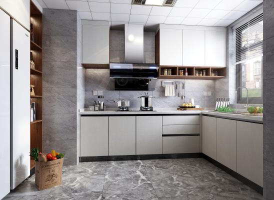 现代厨房橱柜 厨房电器 厨房用品