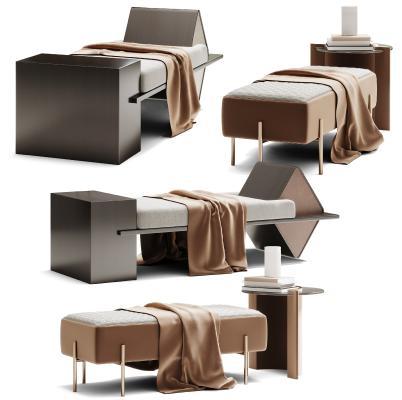 现代脚蹋 沙发凳