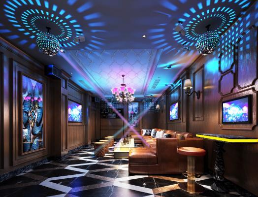 欧式古典KTV包厢 唱吧 休闲娱乐空间 豪华包厢