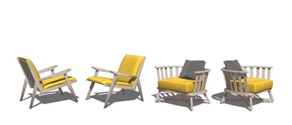 现代休闲椅 椅子 单人沙发