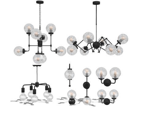 现代玻璃吊灯 壁灯