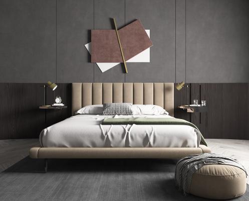 現代臥室 床