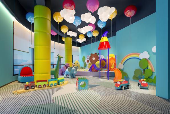 现代儿童游乐区