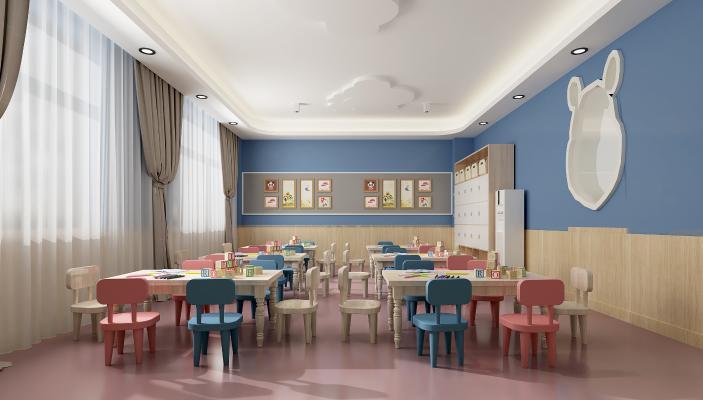 现代幼儿园 教室 活动室