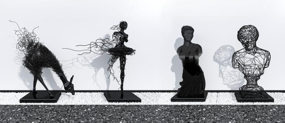 现代人物雕塑饰品摆件