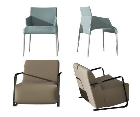 现代单人沙发休闲椅组合 餐椅 休闲椅 客餐厅餐椅 休闲沙发 沙发椅