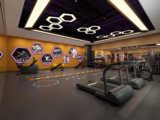 现代健身房 私教室