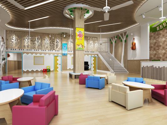 北欧风格学校 幼儿园大厅
