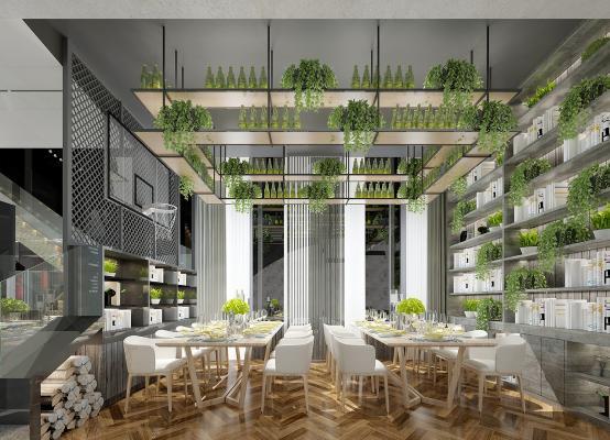 现代工业风餐厅
