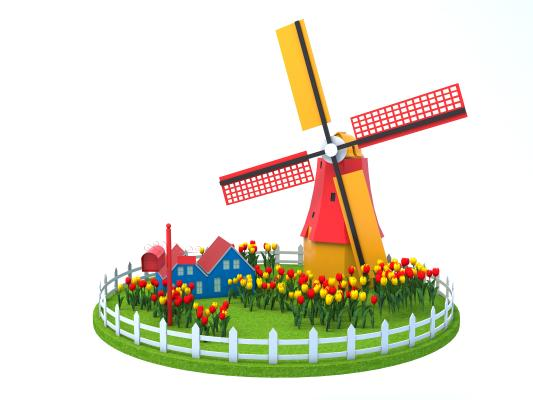 北欧荷兰风车 风车