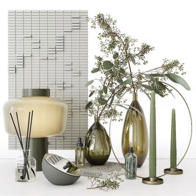 现代装饰摆件组合 花瓶 台灯