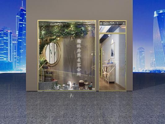 新中式美容院 门头