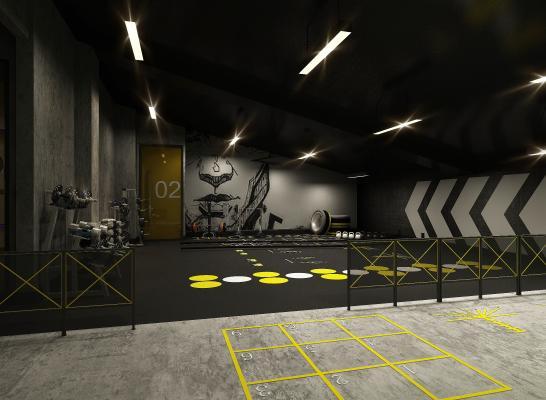 工业风健身房 瑜伽室 舞蹈室