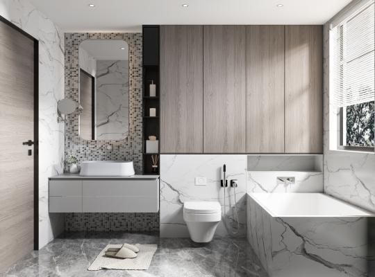 现代卫生间 厕所 卫浴柜