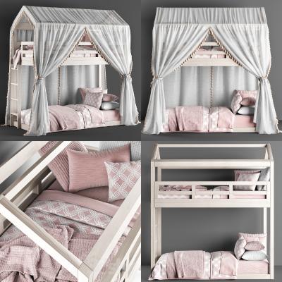 现代儿童双层床