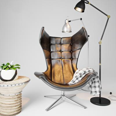 新古典休闲椅 落地灯