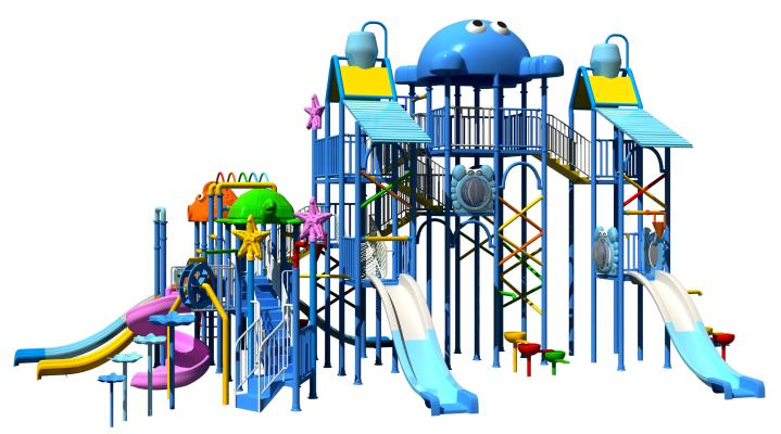 现代儿童滑梯 娱乐器材 游乐场设备