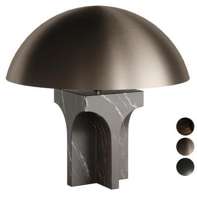 现代Fendi金属大理石台灯