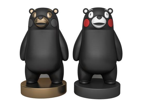 现代熊本熊雕塑摆件