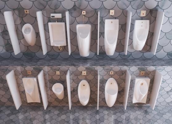 现代公共卫生间小便斗组合 小便池