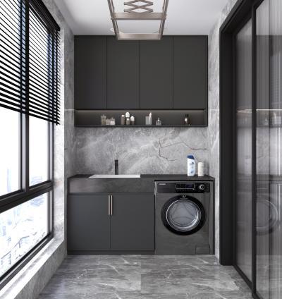 现代阳台洗衣机柜