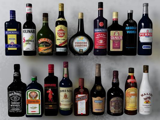 传统中式酒水摆件组合