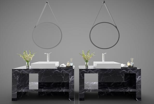 现代风格洗手盆