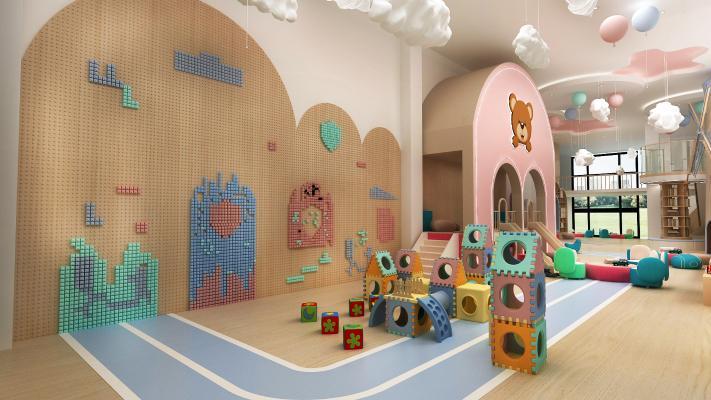 现代学校 幼儿园 大厅