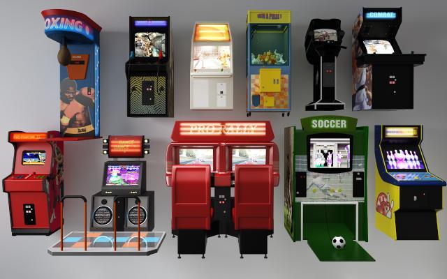 现代游戏机 抓娃娃机