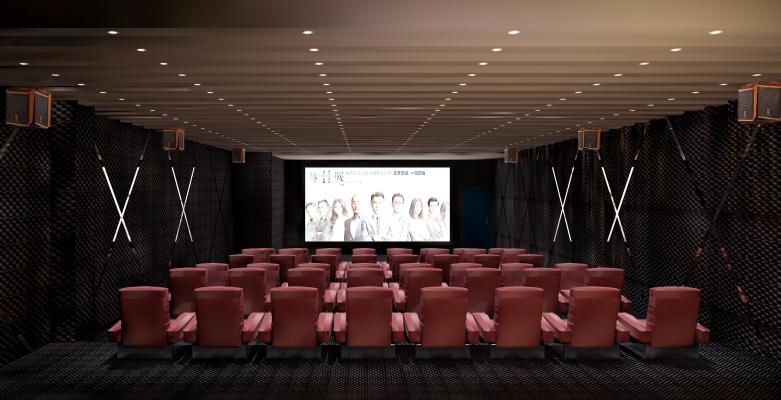 现代风格电影院