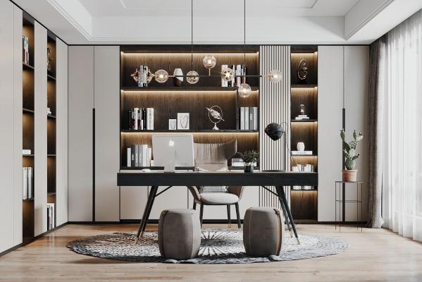 现代书房 书桌