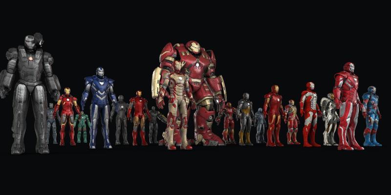 现代钢铁侠 复仇者联盟 机器人