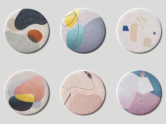 现代圆形地毯 方毯 块毯