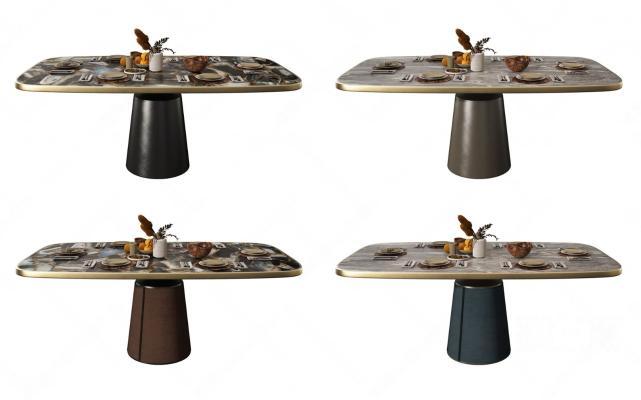 现代轻奢餐桌组合