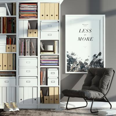 欧式简约书柜 椅子组合