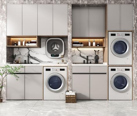 現代洗衣機柜