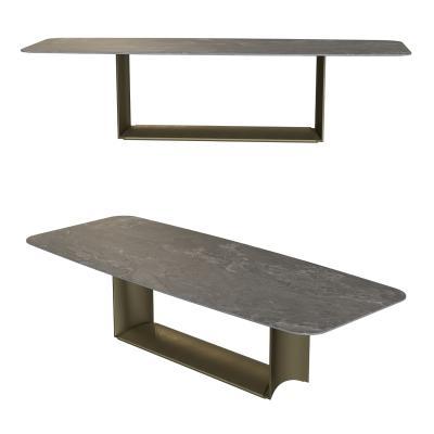 现代石面餐桌