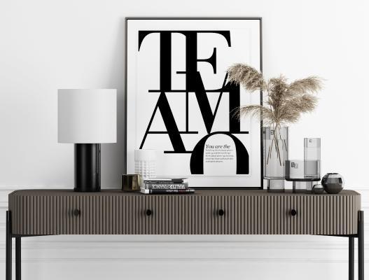 现代装饰品 装饰摆件 装饰柜