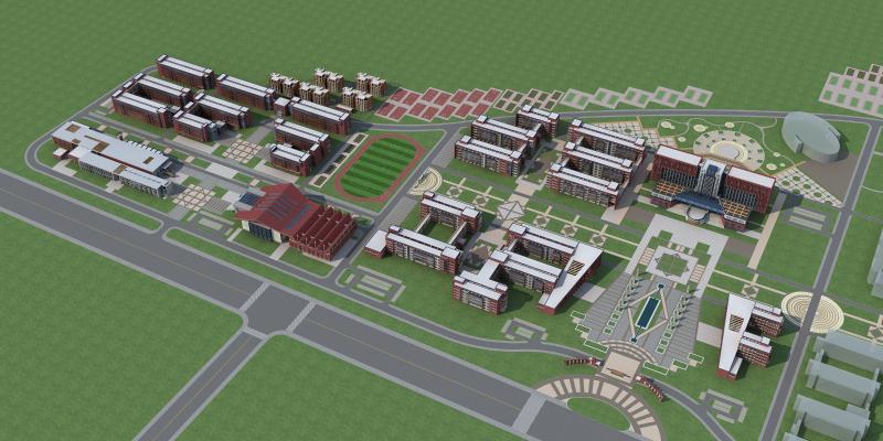 现代学校建筑 大学城 教学楼