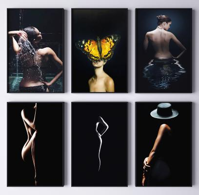 現代人物藝術裝飾掛畫 抽象畫 藝術畫