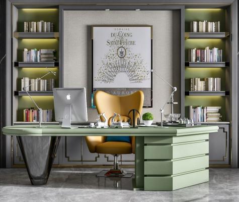 现代经理办公室 班台桌椅