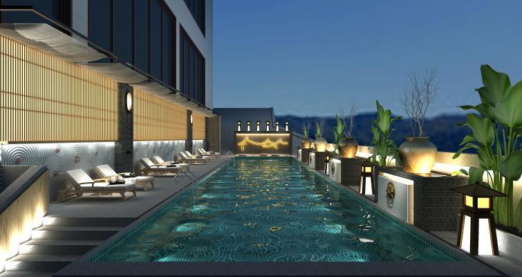 新中式游泳池