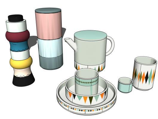现代厨房用品 罐子 杯子
