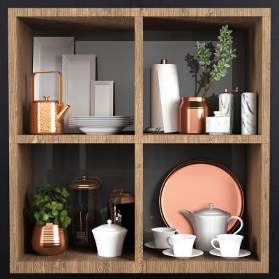 现代厨房配件 茶壶 杯子