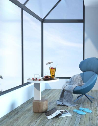 北欧风格皮质休闲椅