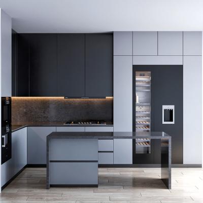 现代厨房中岛台